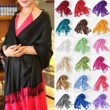 Fashion Womens Winter Warm Scarf Cashmere Silk Long Pashmina Large Shawl Wrap