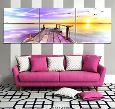 Landscape Painting Art Home Decor Canvas Printing Art Prints Sunset Seascape3pcs