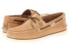 NEW MENS SPERRY TOP SIDER AUTHENTIC Oatmeal Tan Brown ORIGINAL BOAT SHOES NIB