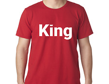 King funny tshirt stylish men tee crown shirt logo design XS XL BB10