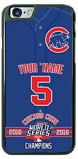 Chicago Cubs Champion Phone Case Cover for iPhone Samsung iPod LG Name /No