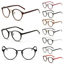 Geek Nerd Retro Costume Round Large Metal Frame Clear Lens Eyewear Glasses