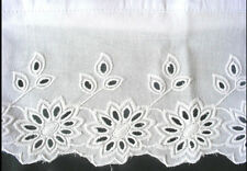 New Embroidered Lace PillowCases White 100% Cotton Standard Pair  M2#