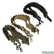 Durable Two Point Sling Tactical Shotgun Sling Hunting 15 Ammo Shells Strap