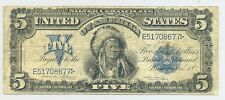 $5 Series 1899 Chief Silver Certificate, nice-looking Friedberg 275 example