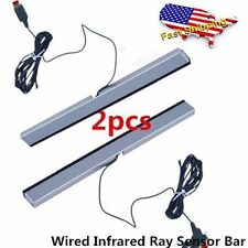 New Wired Infrared Ray Sensor Bar for Nintendo Wii Remote Controller Pro AC