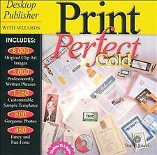 VINTAGE Print Perfect Gold (PC, 1999) COLLECTIBLE