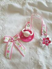 STUNNING REBORN BABY DOLL~ HOT PINK & WHITE~ MAGNETIC ~DUMMY CLIP ~HAIR BOW