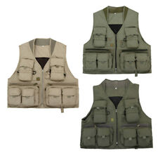 Multi Pockets Fishing Vest Outdoor Jackets Camping Photography Mesh Vest