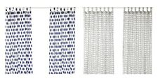 SOMMAR 2017 Curtains, 1 pair White/blue or White/black 145x300 cm IKEA Brand New