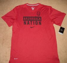 Nike Arkansas Razorbacks Razorback Nation Dri-FIT Legend Mens Shirt L Team Red