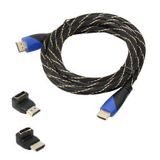 V1.4 AV HD 3D Braided HDMI Cable for PS3 Xbox HDTV Meters 1080P DF LOT