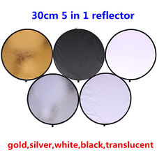 CY 30cm 11.8'' 5 in 1 Portable Collapsible Light Round Photography Reflector