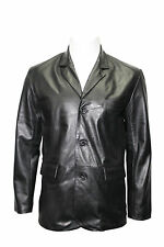CLASSIC BLAZER Men's BLACK 865 Tailored Soft Real Nappa Leather Jacket Coat