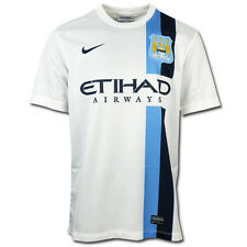 NIKE MANCHESTER CITY SHORT SLEEVE AWAY REPLICA JERSEY WHITE 574868 106
