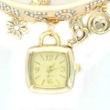 Fashion Women Crystal Rhinestone Chain Bracelet Square Dial Analog Wrist Watch