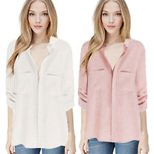 Shirts Summer New Ladies Sleeve Blouses Work  Long Wear Tops Office  Women