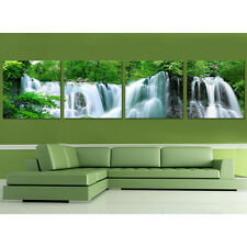 HD Print on Canvas Painting Home Decoration Wall Art Waterfall landscape 4pcs