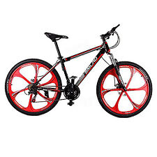 NEW Mountain Bike White 21Speed High Carbon Steel Frame Damping Health Exercise