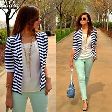 New Fashion Striped Slim Casual Business Blazer Suit Jacket Coat Outwear B0N02