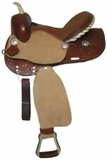 "14"", 15"", 16"" Double T barrel saddle with roughout fenders and jockies"