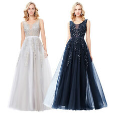 New Long Evening Formal Party Ball Gown Prom Wedding Bridesmaid Dress Size: 4-18