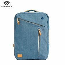 Gearmax Notebook  Laptop Backpack 15.6 Nylon Multi Use Casual Shoulder Blue Gray