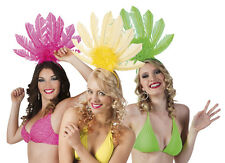 Adults Ladies Carnival Neon Feathered Headband Headwear Fancy Dress Accessory