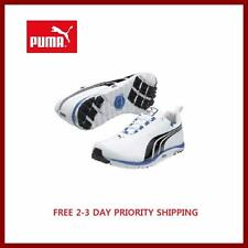 New Puma Men's Golf Shoes 186742-01 White Black Spikeless $100 Free Priority