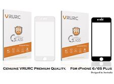 Genuine iPhone 6/6S Plus Screen Protector Tempered Glass, VRURC 3D Curved Edge