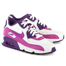 NIKE AIRMAX 90 TRAINERS GS GIRLS WOMENS RUNNING LEATHER/MESH UK SIZE 3 TO 5.5 PU
