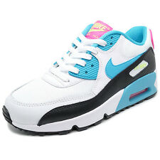 NIKE AIRMAX 90 TRAINERS WHITE/TURQ/PINK GIRLS LADIES UK SIZES 3 TO 5.5