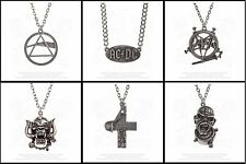 Alchemy Rocks Band Pewter Logo Pendant Chain Necklace Official Merchandise