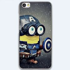 Minion Style Captain America Hard Case Cover Skin For iPhone Samsung Huawei Sony