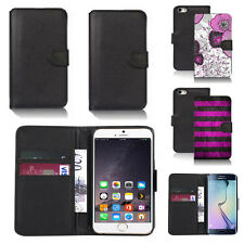 black faux leather wallet case for many mobiles design ref z475