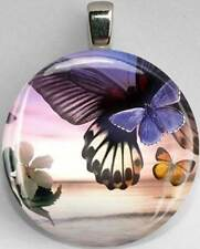 Handmade Interchangeable Magnetic Butterfly #7 Pendant Necklace