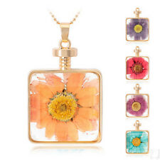 Fashion Female Design Natural Dried Flowers Pendant Necklace Jewlery Hot Sale
