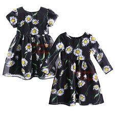Girls Daisy Flower Party Dress Kids Spring Summer Princess Dresses