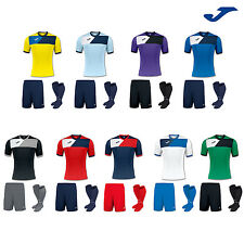 JOMA CREW II FOOTBALL TEAM KIT STRIP SHIRTS, SHORTS, SOCKS MENS ADULTS S,M.L,X/L