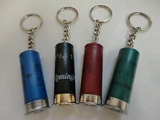 Shotgun shell keychain with chain and key ring
