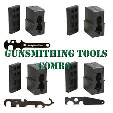 New Gun Smithing Upper Lower Vise Block & Wrench Armorer's Tool Combo Kit USA