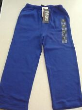 BNWT BOYS SIZE 7 SCHOOL WEAR TRACK PANTS ELASTIC WAIST ROYAL BLUE NEW