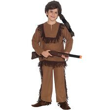 Boys Davy Crockett Costume Child Halloween Book Week Kids Party Outfit