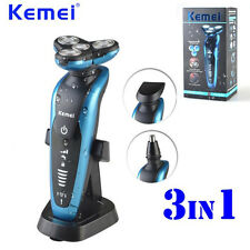 Washable Men's Electric Shaver Razor 3D Floating Heads Quick Charging 3 in 1 NEW