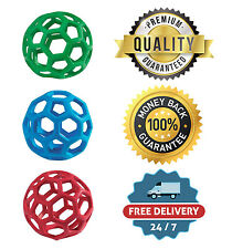 Pet JW Hol-ee Roller Ball Fetch Small/Medium/Large Durable Rubber Dog Toy Chew