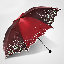 Summer Womens sun-proof Parasol Folding Lady Rain Umbrella biservice 6Color