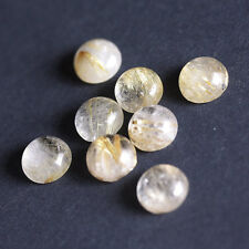 4MM Round Shape, Golden Rutile Calibrated Cabochons AG-225