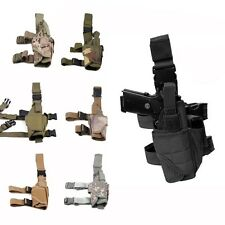 Hunting Adjustable Tactical Army Puttee Thigh Leg for Gun Holster Pouch Bag