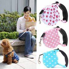 5M Walking Puppy Dog Leash Pet Lead Rope One-handed Lock Automatic Retractable