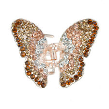 Ladies' Crystal Rhinestone Butterfly Spring Hair Claw Clip Clamp Small Barrette